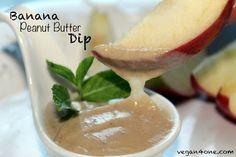 Vegan Banana Peanut Butter Dip #vegan