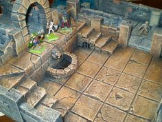Foam dungeon - It is amazing what you can do with insulation foam, a hot glue gun and some inspiration. Lovely work...