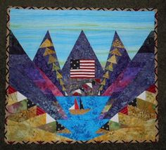 Purple Mountain Majesty Wall Hanging Quilt by PorcupinePointDesign on Etsy