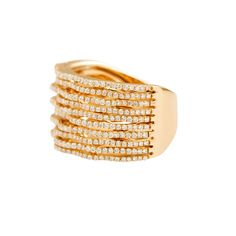 "Diamond ""Keystone (Grand)"" Ring - Diamond & 18K Rose Gold Ring"