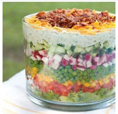 7+ layer salad (instead of dip)