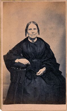 Woman in Mourning, Canadian Carte de Visite, circa 1865.