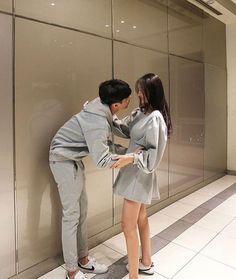 """Lets waiting for the babies"" Matching Couple Outfits, Matching Couples, Ulzzang Couple, Ulzzang Girl, Cute Couples Goals, Couple Goals, Cute Korean, Korean Girl, Parejas Goals Tumblr"
