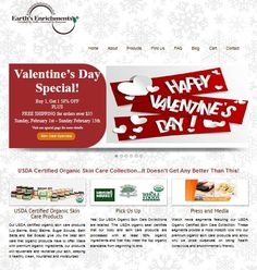 Valentine's Day Special Buy 1, Get 1 50% off PLUS Free Shipping for orders over $35 www.earthsenrichments.com #valentines #gifts #skincare
