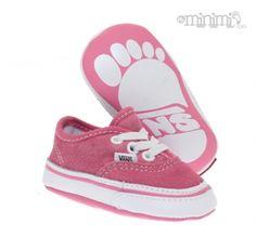 Minis chaussons roses pour bébés !  #Vans #baby