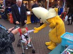 Bananaman is going down a storm at LSD Promotions Gloucester Green Charter Market In Oxford City Center! #lylm2015