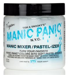 Manic Mixer/Pastel-izer Classic Cream Formula — #glamwhores helps lighten hair color you already have for the pastel look. Works awesome!!!
