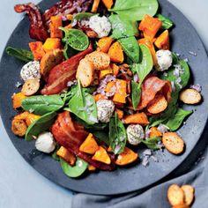 Taste Mag | Roast butternut, bacon and spinach salad @ http://taste.co.za/recipes/roast-butternut-bacon-and-spinach-salad/