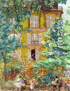 """""""Le Square"""" — — Edouard Vuillard — French — Glue-based distemper on canvas — Private Collection. """"Le Square"""" — — Edouard Vuillard — French — Glue-based distemper on canvas — Private Collection. Edouard Vuillard, Klimt, Monet, Pierre Bonnard, Beautiful Paintings, Love Art, Oeuvre D'art, Art History, Landscape Paintings"""