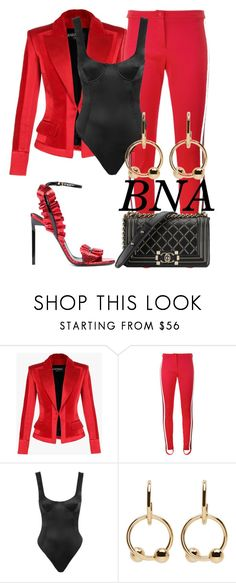 """BNA"" by deborahsauveur ❤ liked on Polyvore featuring Balmain, Gucci, Chanel, J.W. Anderson and Yves Saint Laurent"