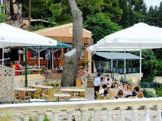 Cafe Kanoni - Picture of Cafe Kanoni, Corfu Town - Tripadvisor Corfu Town, Baguio, Modern Glass, Car Parking, Trip Advisor, Tourism, Island, Photo And Video, Dining