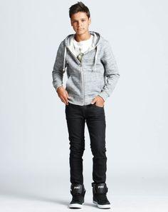 Riki Zip-Through Sweat + Hi Skater Tee + Channing Skinny Jean + NYC Hi Top Sneakers   Pavement United Brands