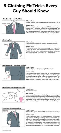 5 Clothing Fit Tricks Every Guy Should Know Via