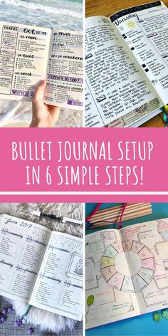How to Set Up Your Bullet Journal in 6 Simple Steps Who knew setting up a bullet journal was so simple! Now I have all the instructions I need to get mine ready for Bullet Journal Cover Ideas, January Bullet Journal, Bullet Journal For Beginners, Bullet Journal How To Start A, Bullet Journal Spread, Bullet Journal Layout, Journal Covers, Bullet Journal Inspiration, Bullet Journals