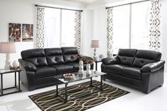 Bastrop DuraBlend - Midnight - Sofa & Loveseat | 44601/35/38 | Leather Living Room Groups | Geneseo Home Furnishings