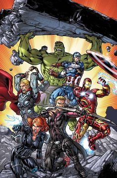 Avengers: Operation Hydra No. 1 Cover, Featuring: Black Widow, Hawkeye, Iron Man, Captain America Marvel Comics Poster - 30 x 46 cm Marvel Avengers, Avengers Earth's Mightiest Heroes, Marvel Comics Superheroes, Marvel Heroes, Marvel Fan, Marvel Comic Character, Marvel Comic Books, Comic Book Characters, Marvel Characters