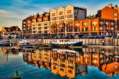 Marina #gdansk Gdansk Poland, Central Europe, Baltic Sea, Eastern Europe, Aesthetic Photo, Homeland, Vacation Ideas, Sunsets, Places Ive Been