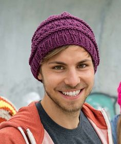 Bluntside Mountain Hat - Free Pattern: There is plenty to keep you interested while knitting this strikingly textured hat in Schachenmayr Boston Sun.