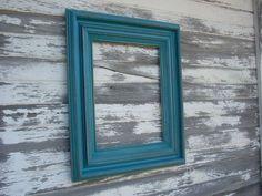 Teal distressed frame