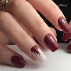 Trendy Nail Art Designs For 2019 - Art des Ongles Trendy Nail Art, Stylish Nails, Classy Nail Art, Gel Nagel Design, Short Nails Art, Fall Nail Designs, Christmas Nail Designs Easy Simple, Fall Nail Ideas Gel, Simple Christmas Nails