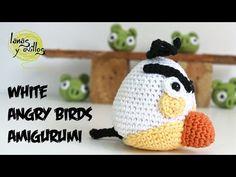 Tutorial Angry Birds Blanco Amigurumi White (english subtiltes) - YouTube