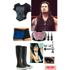 """""""Tag teaming with Roman Reigns"""" Wwe Outfits, Fashion Outfits, Female Outfits, Camo Prom Dresses, Wwe Divas, Roman Reigns, Polyvore Outfits, Wrestling, Style Inspiration"""
