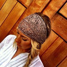 Lace turban headband by Three Bird Nest. Lace Headbands, Turban Headbands, Hair Turban, Wild Hair, Lace Hair, Head Bands, Bad Hair Day, Headgear, Hair Ties