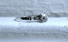 Hey, I found this really awesome Etsy listing at https://www.etsy.com/listing/173510432/art-deco-vintage-14k-white-gold-diamond