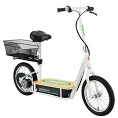 Razor EcoSmart Metro Electric Economical Green Scooter with Seat and Rack. Electric Scooters for Sale. Electric scooter for adults and kids. Razor and other brands. Electric Scooter With Seat, Razor Electric Scooter, Electric Power, Electric Bicycle, Electric Razor, Electric Cars, Scooters, Pneumatic Tube, Bamboo Decking