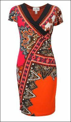 Joseph Ribkoff Dress. Orange   Hermes Inspired. #josephribkoff