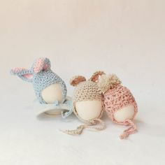 Eggs cosy, pattern hat crochet for easter (italian blog).