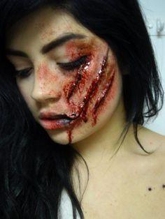 Scary Wound Makeup Tutorial For Halloween #Halloweentip