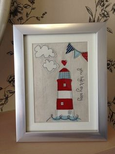 Personalised Light House Beach Hut Seaside Nautical Sewn Fabric Picture Framed is creative inspiration for us. Get more photo about home decor related with by looking at photos gallery at the bottom of this page. We are want to say thanks if you like to share this post to another …