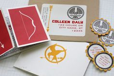 hunger games invite - thanks to ideas brainstormed from this pinboard! i still have so much to post from this party...
