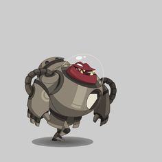 Zone Animation, 2d Character Animation, Animation Reference, Robot Illustration, Animation Tutorial, Cool Animations, Sprites, Creature Design, Fantasy Creatures