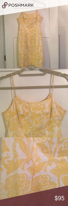 Tibi Hyland Yellow & White Floral Dress - Size 4 Beautiful yellow and white floral spaghetti strap dress. One small spot on the back upper, which is visible in the pictures. Otherwise is great condition. Tibi Hyland Dresses Midi