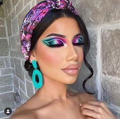 In full spring mode 🌸👗 Gorgeous Makeup, Love Makeup, Makeup Art, Eyeshadow Makeup, Makeup Looks, Gothic Makeup, Fantasy Makeup, Cheer Makeup, Carnival Makeup