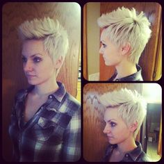Short hair cut on my sister in law