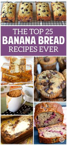 These banana bread recipes are so good. I am a huge fan of this delicious treat and even I had no idea how many amazing ways I could make it! Buffalo Chicken, Nachos, Delicious Desserts, Dessert Recipes, Drink Recipes, Baking Recipes, Breakfast Recipes, Dark Chocolate Cakes, Sweet Potato Soup