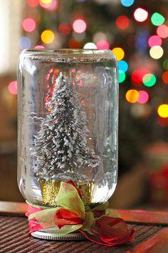 home made snow globes - happy holidays!