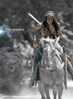 Danai Gurira---Michonne #walkingdead #cool #horse
