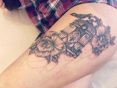 Tattoo Birdcage Roses Bird Victorian Style Girly