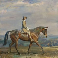 "SIR ALFRED JAMES MUNNINGS ""Portrait of Mrs. Margaretta Park Frew Riding"""