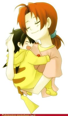 My Delia Ketchum and little Ash