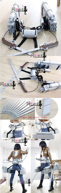 attack of the giant props cos Mikasa A Ermin Allen key stereoscopic mobile devices spot - Taobao