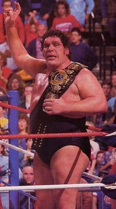 """The Eighth Wonder Of The World""  Andre the Giant as WWF Heavyweight Champion in 1988"