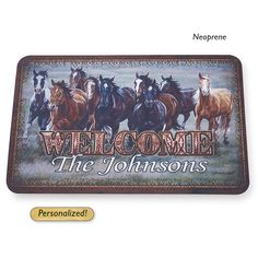 Personalized Headed Home Doormat Weatherguard - Western Wear, Equestrian Inspired Clothing, Jewelry, Home Décor, Gifts