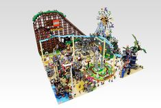 Lego Mini amusement park diorama. | by OliveSeon