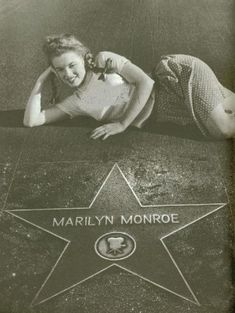 Marilyn Monroe by her Hollywood Walk of Fame star