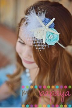 Under the Sea Starfish Fascinator Mermaid - idea for special headband for Allie for her b-day party!